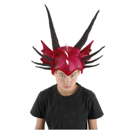 Red Dragon Hat for Cosplaying and Parties