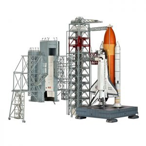 Revell Launch Tower & Space Shuttle & Booster Rockets