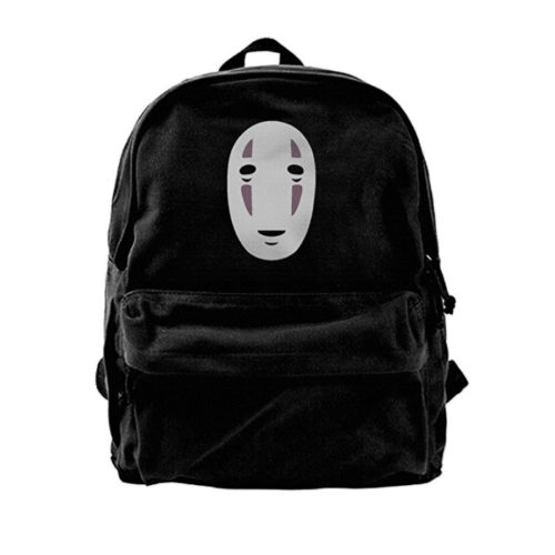 No-Face Spirited Away Canvas Backpack Travel Bag
