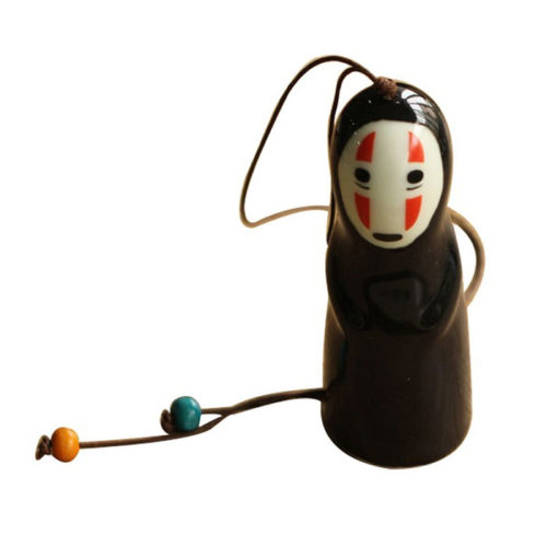 Spirited Away No Face Ceramic Wind Chime Ornament