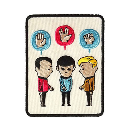 Star Trek 'Paper, Scissors, Rock' Iron-On Embroidered Patch
