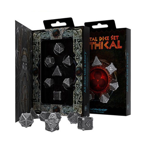 Q-Workshop Mythical Steampunk Metal Dice Set