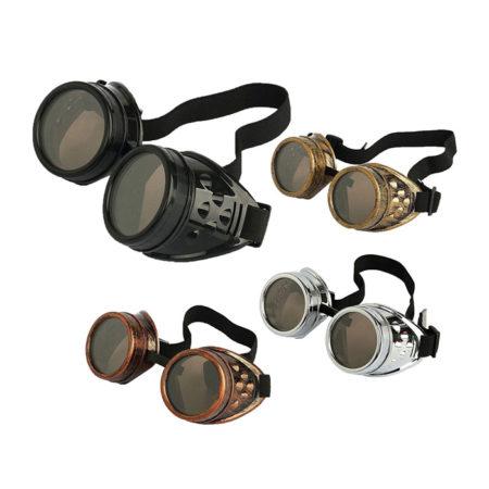 Retro Vintage Victorian Steampunk Goggles (4 pcs)