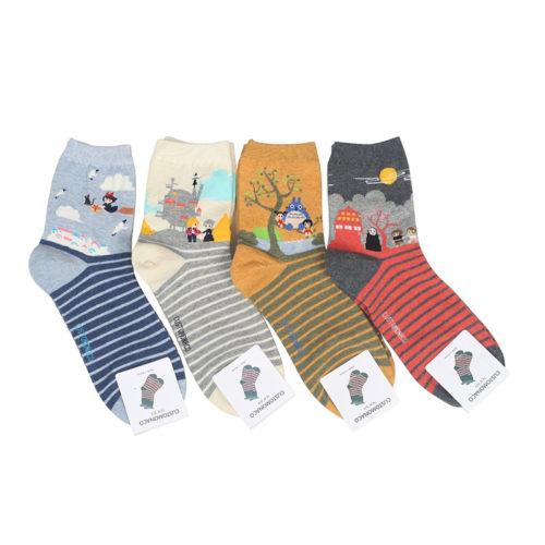 Hayao Miyazaki Studio Ghibli Anime Socks