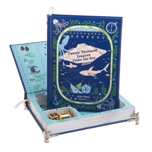 20,000 Leagues Under the Sea Hollow Book Music Box Jules Verne