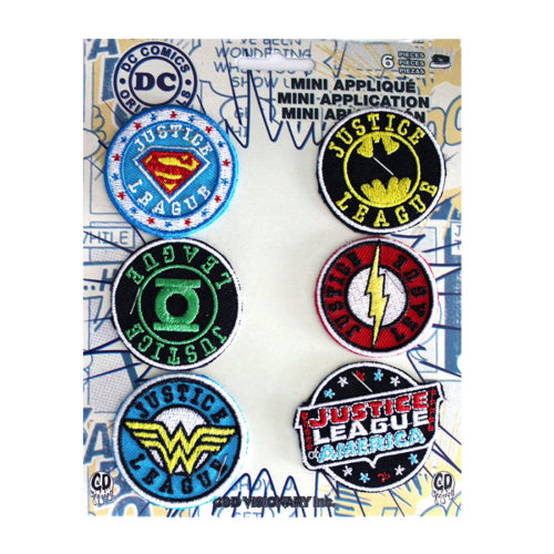 DC Comics Justice League 6 Embroidered Patch Set