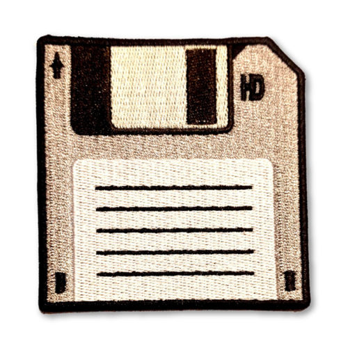 100% Embroidered 5 inch Floppy Disk Patch