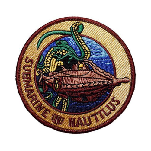 """20,000 Leagues Under the Sea Nautilus 3 1/2"""" Embroidered Patch"""