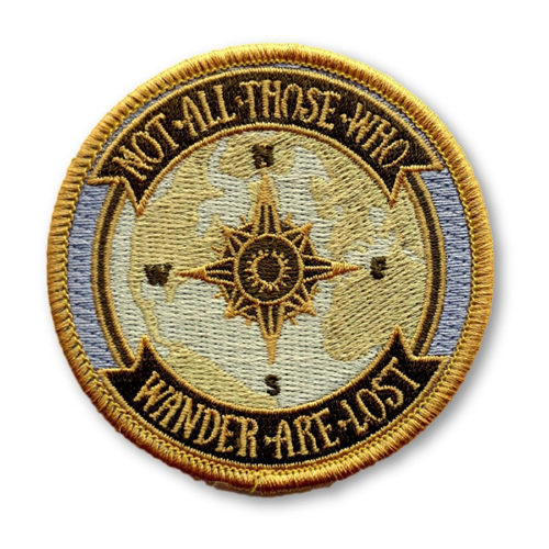"""Lord of the Rings Patch """"Not All Those Who Wander Are Lost"""""""