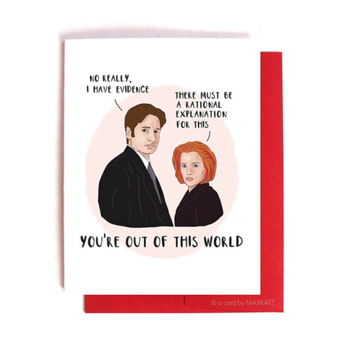 Scully and Mulder X-Files Valentine / Anniversary Card