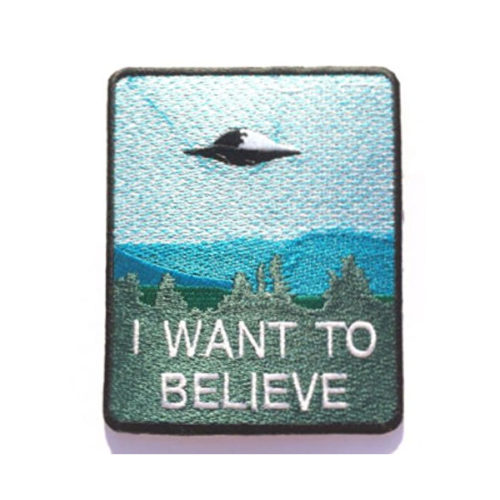 X-Files I Want To Believe Embroidered Patch Square