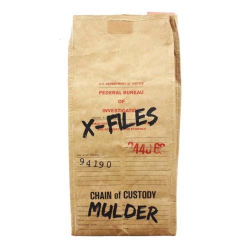 The X-Files Evidence Brown Tote Bag