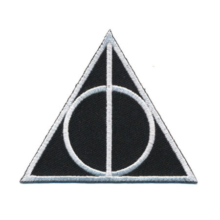 Harry Potter Embroidered Patch: Deathly Hallows