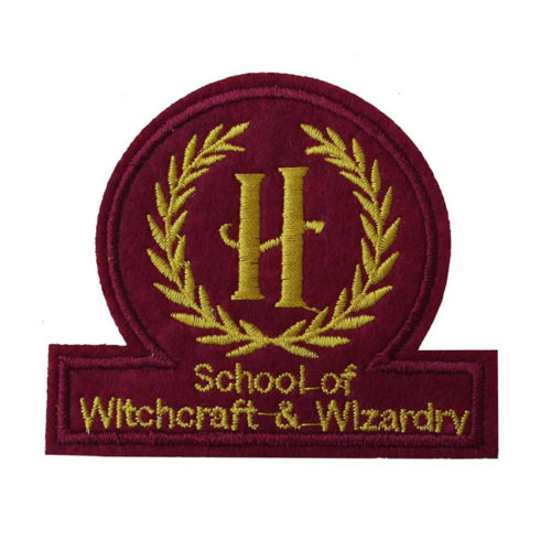 Harry Potter Embroidered Patch: Hogwarts School of Witchcraft and Wizardry