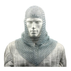 Knight Warrior Chain Mail Coif Armor Prop Costume
