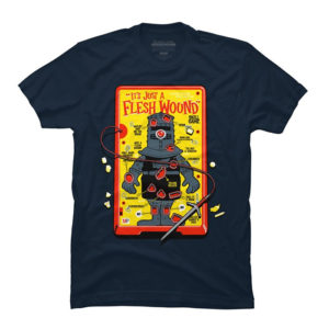 """It's Just A Flesh Wound"" T-Shirt Monty Python"