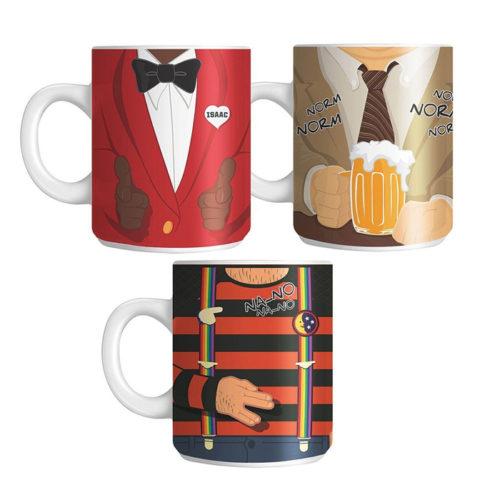 TV Mug Set of 3 Cheers, Mork & Mindy, Love Boat