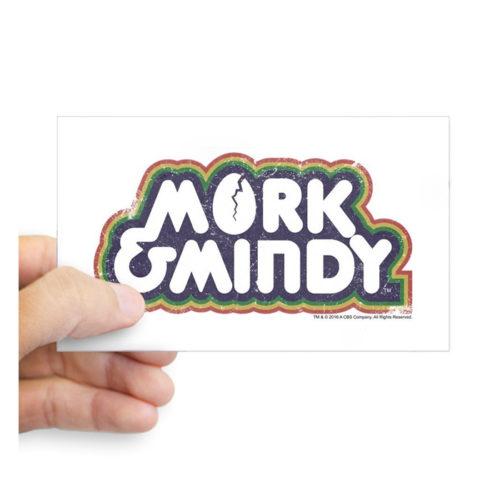 Mork & Mindy Logo Bumper Sticker Car Decal