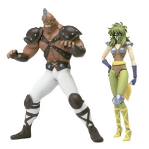 Bandai Tamashii Nations Saint Seiya Shaina and Cassius Figures