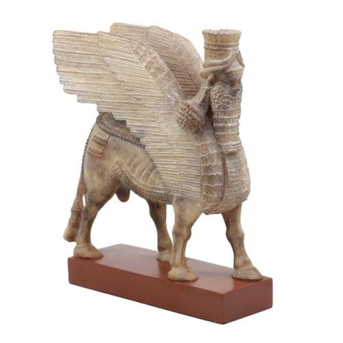 Ancient Assyrian Lamassu Bull Statue by Ebros