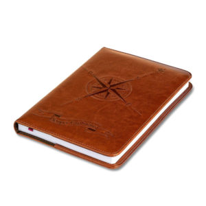 Faux Leather Refillable Compass Lined Journal
