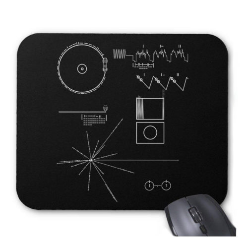 Voyager Message Mouse Pad in Black & White