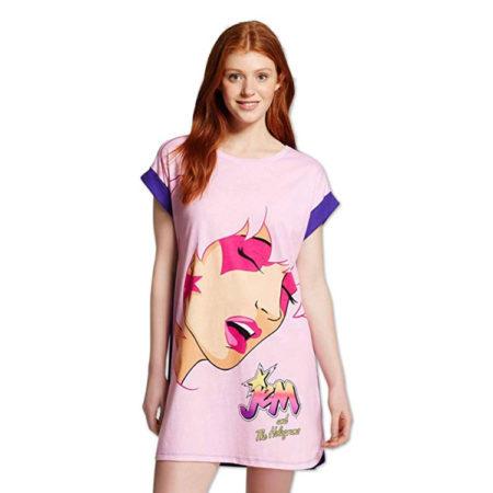 Jem and The Holgrams Ladies Pajamas Nightshirt