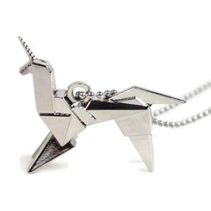 Blade Runner Origami Unicorn Necklace