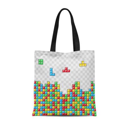 Tetris Canvas Tote Bag by Semtomn