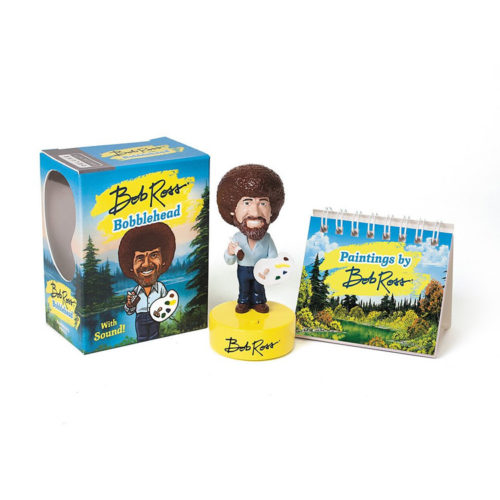Bob Ross Bobblehead with Book and Sound
