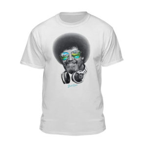 Bob Ross Officially Licensed T-Shirt by Teelocity DJ
