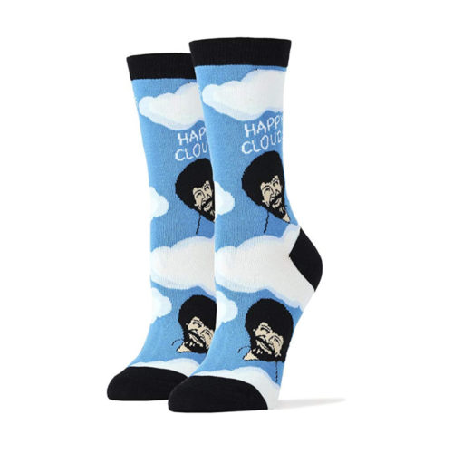 "Bob Ross ""Happy Clouds"" Socks"