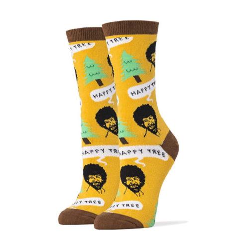 """Bob Ross """"Happy Trees"""" Socks"""