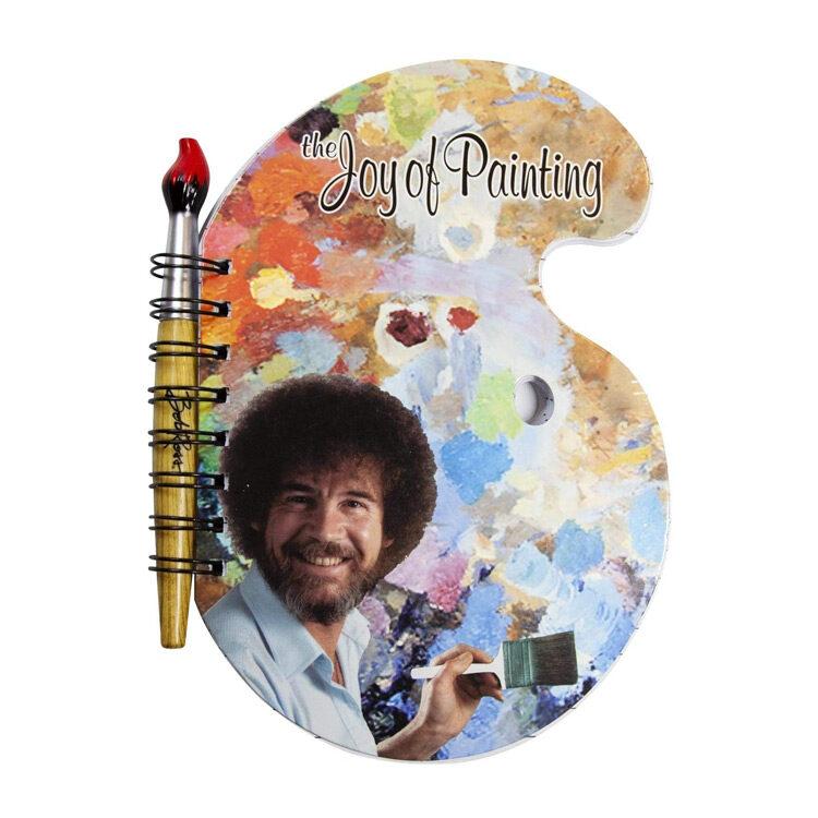 Bob Ross Paint Palette Journal with Brush Pen