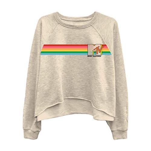 Retro MTV Long Sleeve Shirt Raglan Fleece
