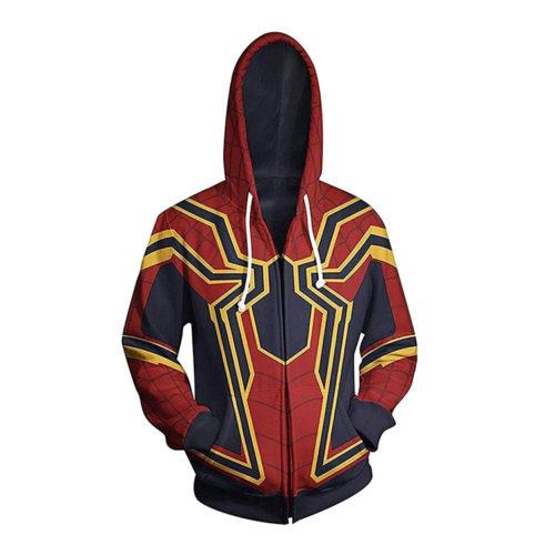 Marvel Spider Man Hoodie Jacket Sweatshirt