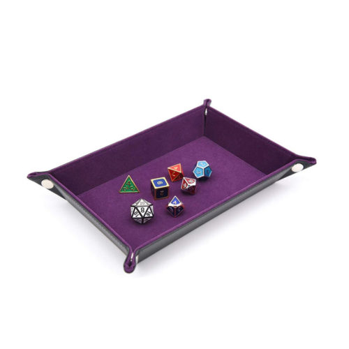 Dice Folding Tray with Purple Velvet by IvyFieldDice