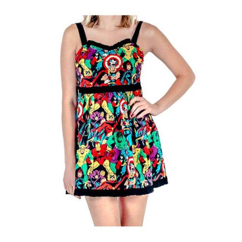 Marvel Super Heroes Print Dress