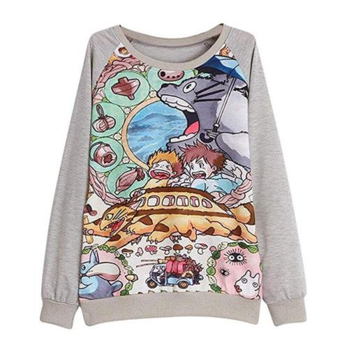 My Neighbor Totoro Long Sleeve Sweatshirt Pullover
