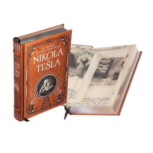 Nikola Tesla Real Leather Hollow Book Safe
