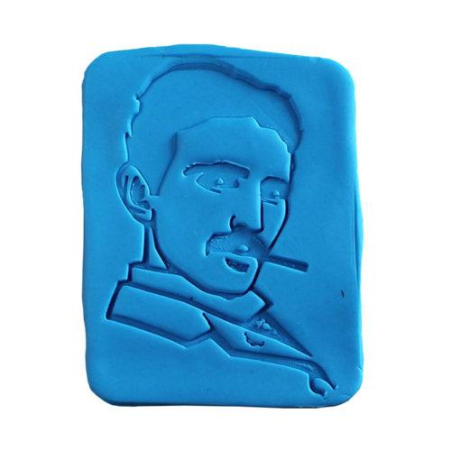 Nikola Tesla Fondant Stamp & Cookie Cutter