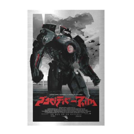 Pacific Rim Jaegers 36x24 Silk Fabric Poster