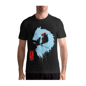 Princess Mononoke Cotton T-Shirt Black