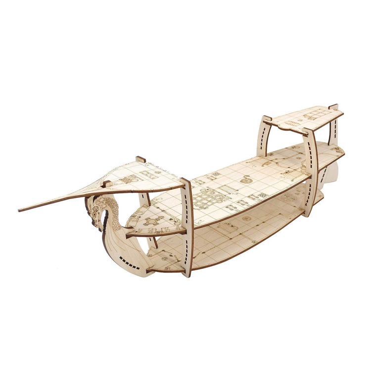 Laser Cut 3D Wooden Ship in 3-Levels