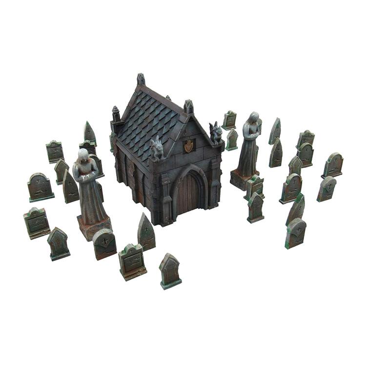 Mausoleum Graveyard Scene Terrain for Tabletop by EnderToys