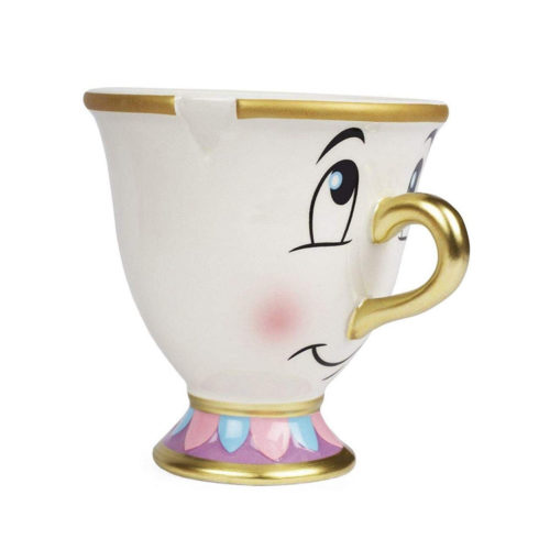 Beauty and the Beast Chip Mug with Gold Foil