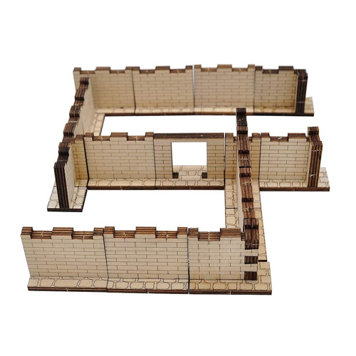 Wood Laser Cut Dungeon Brick Walls