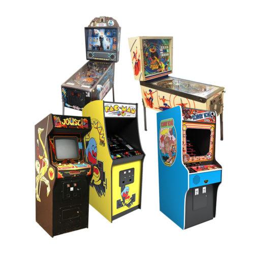 Arcade Machines and Pinball Cabinets