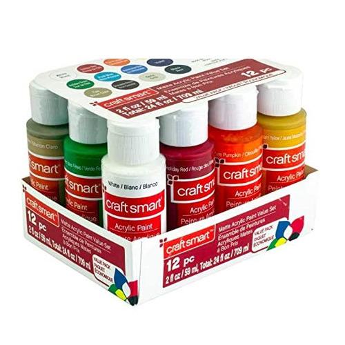 Craft Smart Matte Acrylic Paint Value Set
