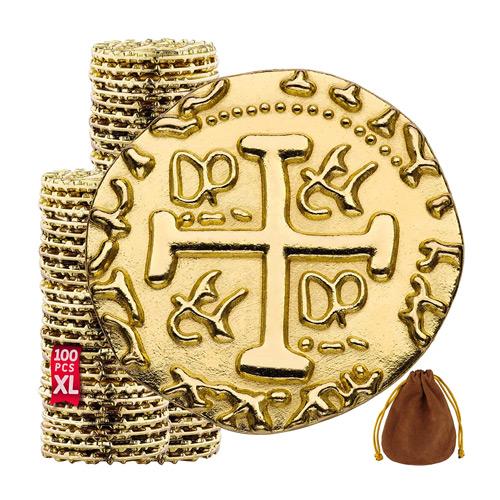 Golden Metal Coins - Doubloon Tokens